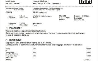 Как купить электронный авиабилет