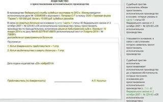 Ходатайство о прекращении производства по делу. образец и бланк 2020 года