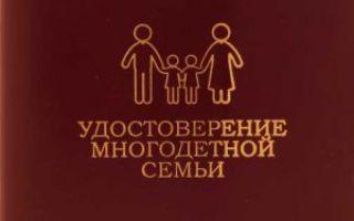 Как оформить удостоверение многодетной семьи?