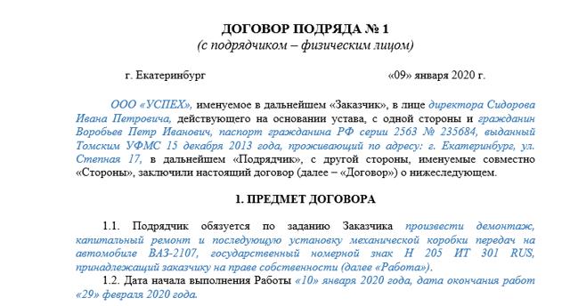Соглашение о расторжении договора подряда. Образец и бланк для скачивания 2020 года