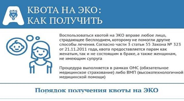 Порядок получения квоты на ЭКО