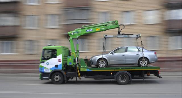 Действия при эвакуации автомобиля