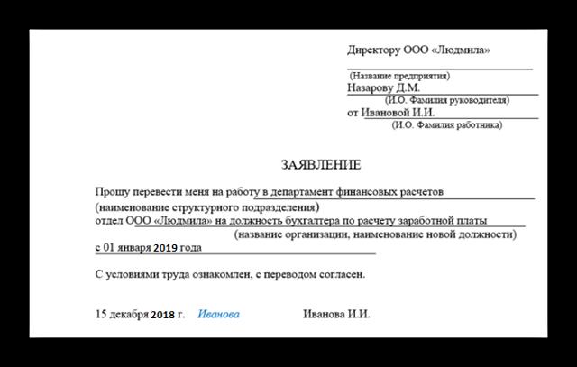 Дополнительное соглашение о переводе на другую должность. Образец и бланк 2020 года
