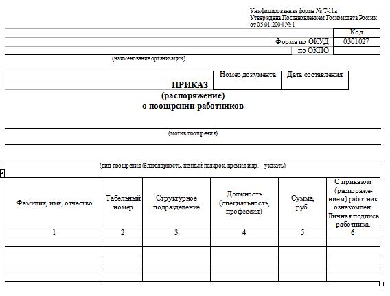 Ходатайство о награждении. Образец заполнения и бланк 2020 года