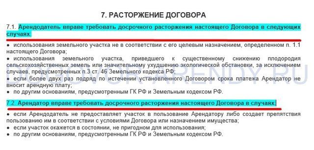 Соглашение о расторжении договора аренды земельного участка. Образец и бланк 2020 года